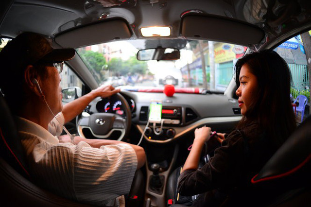 khach su dung xe uber tai tp.hcm - anh: tl