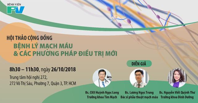 Hội thảo 'Bệnh lý mạch máu và các phương pháp điều trị mới' - Ảnh 1.