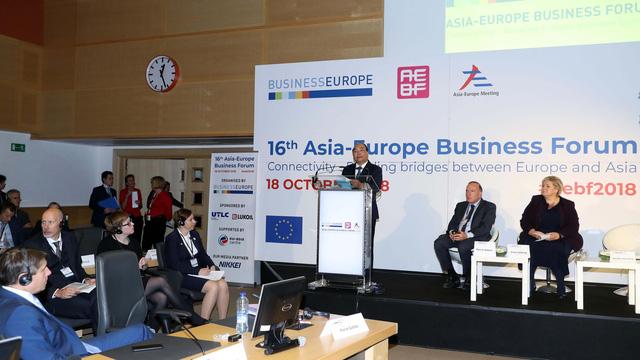 Diễn đàn doanh nghiệp Á - Âu: Kết nối chính phủ - doanh nghiệp - Ảnh 1.