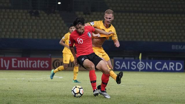 U19 Hàn Quốc và Úc bất phân thắng bại - Ảnh 2.