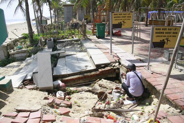 Khẩn trương xử lý sạt lở bờ biển Đà Nẵng - Ảnh 2.