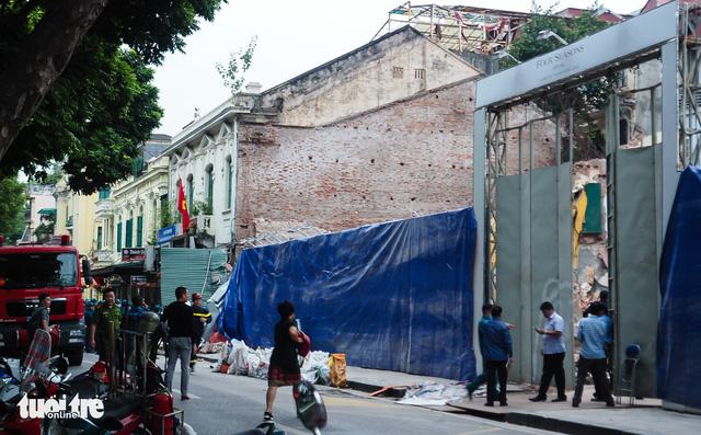 Vụ sập nhà sát hồ Gươm: Ngôi nhà không thuộc dự án khách sạn - Ảnh 1.