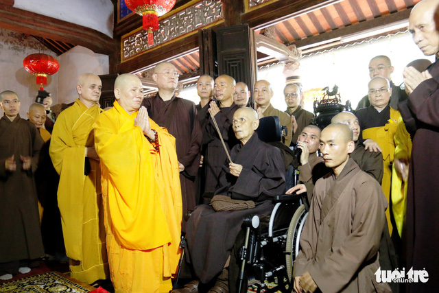 Thiền sư Thích Nhất Hạnh về đến tổ đình Từ Hiếu - Ảnh 9.