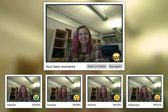 Microsoft tung ra ứng dụng Emoji8 đánh giá biểu cảm khuôn mặt người dùng - Ảnh 1.