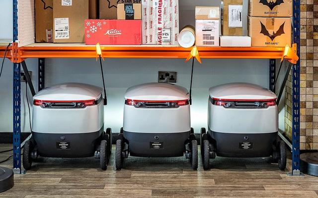 Dịch vụ robot giao hàng đầu tiên trên thế giới ra mắt ở Anh - Ảnh 1.