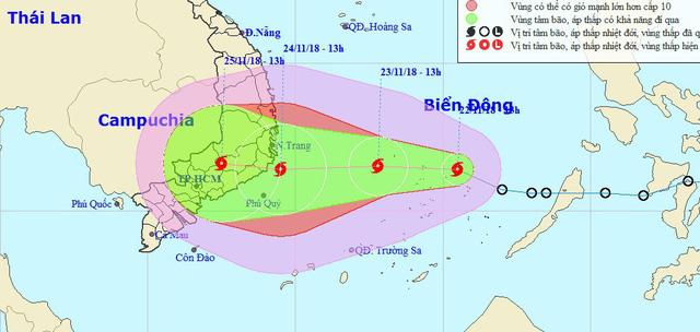 Áp thấp nhiệt đới mạnh thành bão số 9, tiếp tục mạnh lên - Ảnh 1.