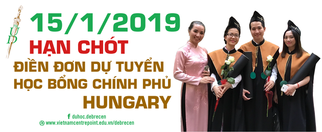 15-01-2019: hạn chót điền đơn học bổng chính phủ Hungary - Ảnh 1.