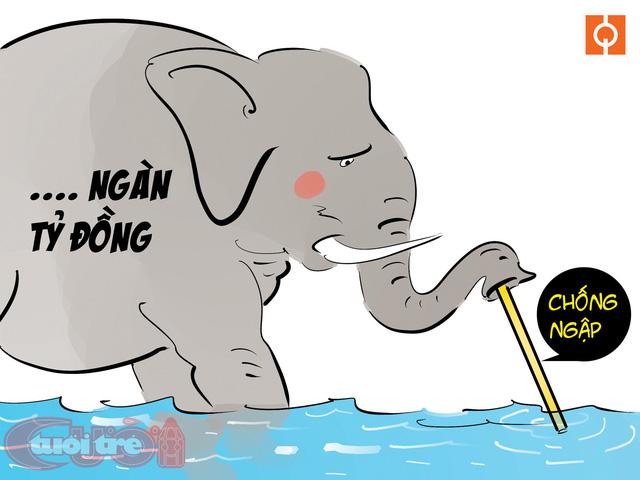 Sài Gòn bỗng thành dòng sông uốn quanh - Ảnh 2.