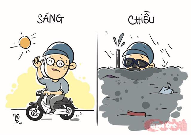 Sài Gòn bỗng thành dòng sông uốn quanh - Ảnh 4.
