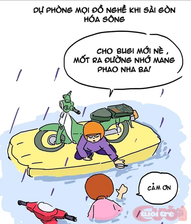 Sài Gòn bỗng thành dòng sông uốn quanh - Ảnh 5.