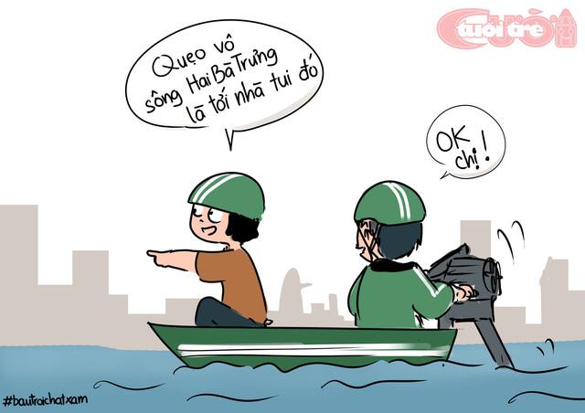 Sài Gòn bỗng thành dòng sông uốn quanh - Ảnh 7.