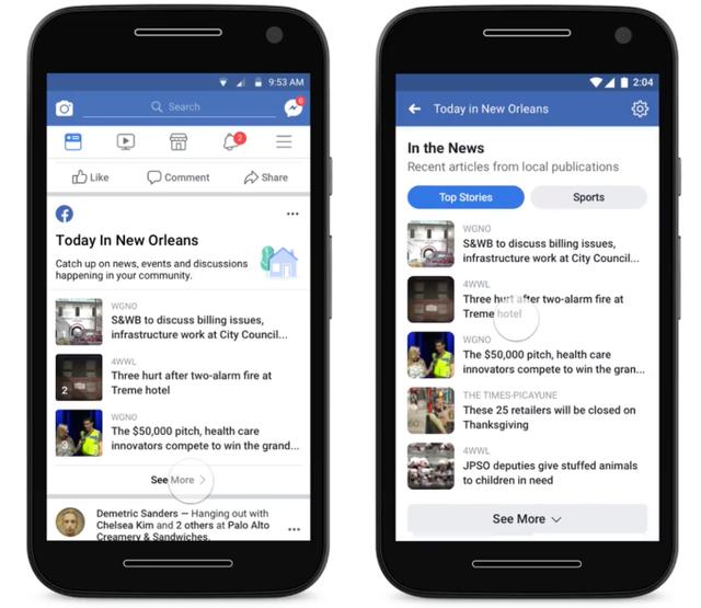 Ngăn tin giả, Facebook cung cấp thêm kênh tin tức địa phương - Ảnh 1.