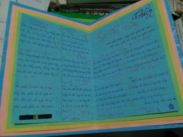 Học trò làm thơ toàn công thức vật lý tặng thầy - Ảnh 2.