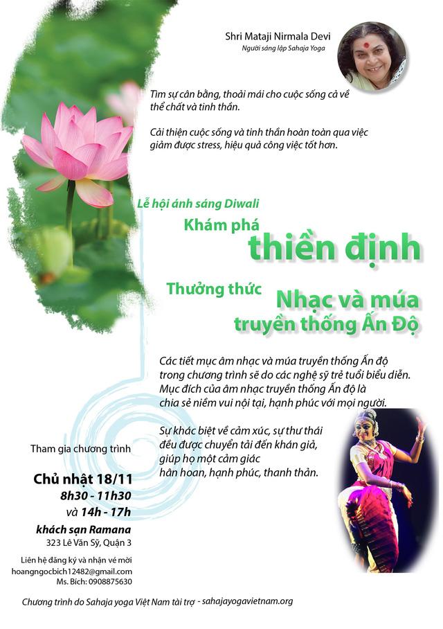 Ca múa nhạc Ấn Độ và triển lãm Sahaja yoga tại TP.HCM - Ảnh 1.