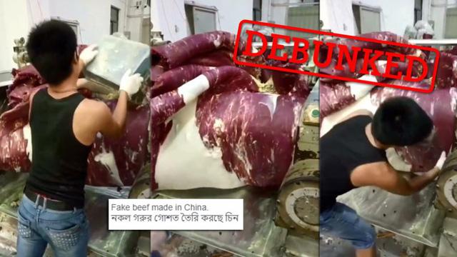 Thực hư video làm thịt bò giả của Trung Quốc đang được chia sẻ mạnh - Ảnh 1.
