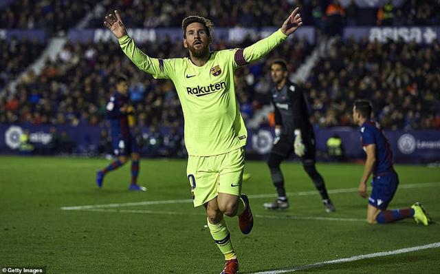 Messi lập hat-trick, Barcelona nhấn chìm Levante - Ảnh 2.