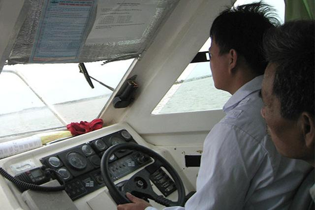 Sát hạch thuyền viên lái tàu trực tuyến, có camera giám sát - Ảnh 1.