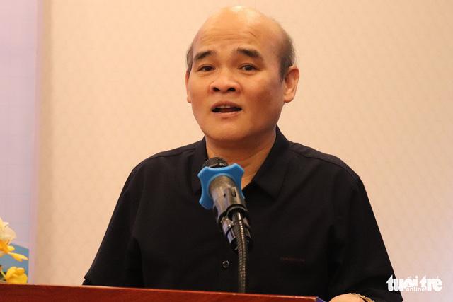 Ông Nguyễn Huy Quang - vụ trưởng Vụ Pháp chế Bộ Y tế phát biểu tại Hội thảo - Ảnh: XUÂN MAI