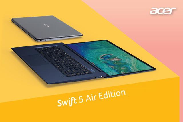 """Hiệu quả vượt trội với dòng laptop """"siêu mỏng, siêu nhẹ"""" Acer Swift Series - Ảnh 1."""