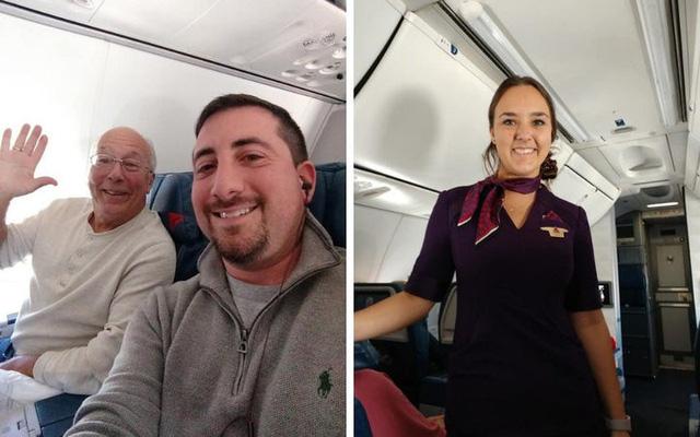 Cha bay cùng 6 chuyến để con gái tiếp viên không cô đơn dịp Giáng Sinh - Ảnh 1.