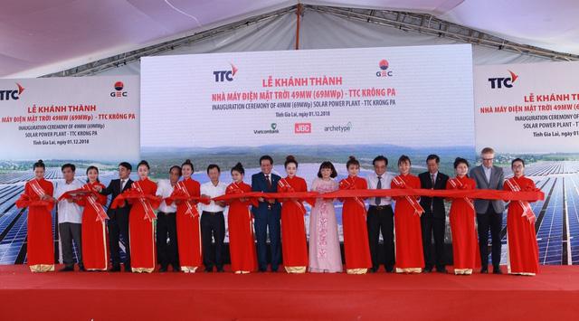 Khánh thành nhà máy điện mặt trời TTC Krông Pa - Ảnh 1.
