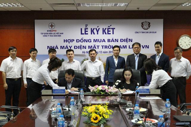 EVN ký kết hợp đồng mua bán điện với Công ty Cam Lam Solar - Ảnh 1.