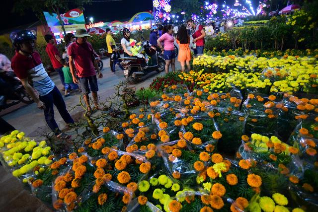 Sài Gòn khai mạc chợ hoa xuân Bình Điền - Ảnh 2.