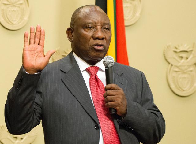 Ông Cyril Ramaphosa trở thành tân Tổng thống Nam Phi - Ảnh 1.