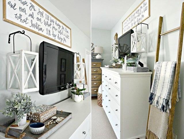 10 kiểu trang trí tivi để phòng khách đẹp hơn - Ảnh 1.