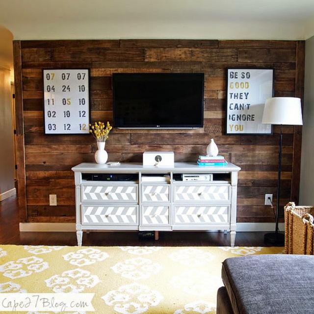 10 kiểu trang trí tivi để phòng khách đẹp hơn - Ảnh 6.