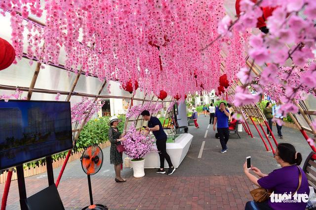 Khai mạc Hội hoa xuân Phú Mỹ Hưng trong khuôn viên 7 ha - Ảnh 11.