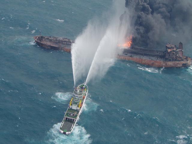 Tàu chở dầu Iran chìm ở biển Hoa Đông - Ảnh 2.