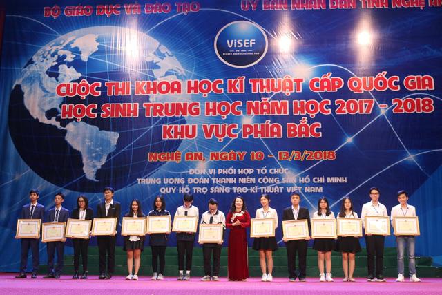 13 dự án đoạt giải nhất cuộc thi khoa học kỹ thuật phía bắc - Ảnh 1.