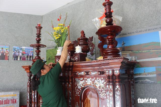 Lãnh đạo tỉnh Khánh Hòa và huyện Trường Sa tưởng niệm liệt sĩ Gạc Ma - Ảnh 6.