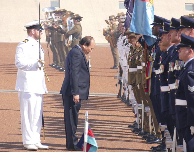 19 loạt đại bác chào mừng Thủ tướng Nguyễn Xuân Phúc thăm Australia - ảnh 3