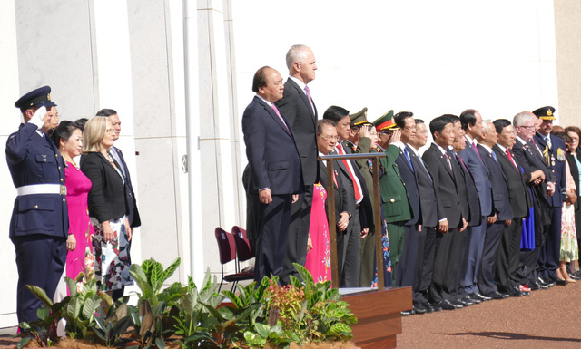 19 loạt đại bác chào mừng Thủ tướng Nguyễn Xuân Phúc thăm Australia - ảnh 4
