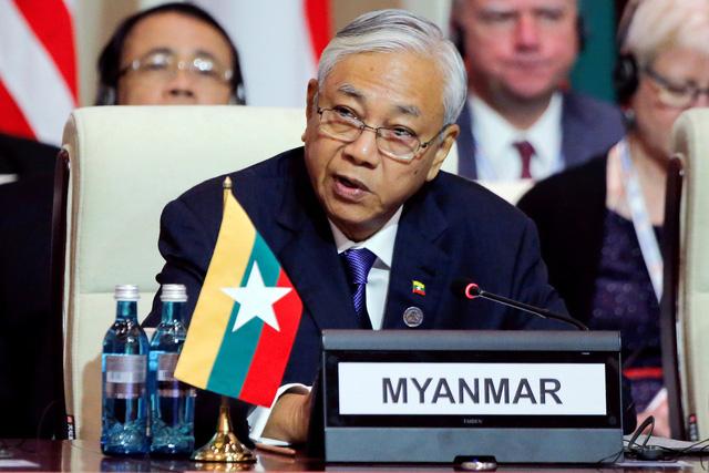 Tổng thống Myanmar bất ngờ từ chức - Ảnh 1.