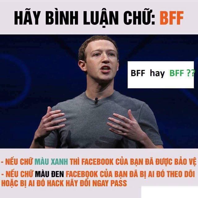 Đừng xỉu vì tin giả BFF đổi màu liên quan đến bảo mật Facebook! - Ảnh 1.