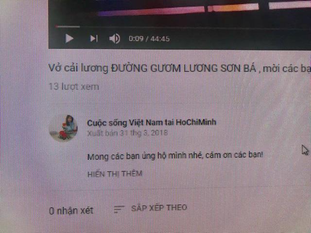 Quay trộm vở cải lương Đường gươm Nguyên Bá rồi post lên YouTube - Ảnh 2.