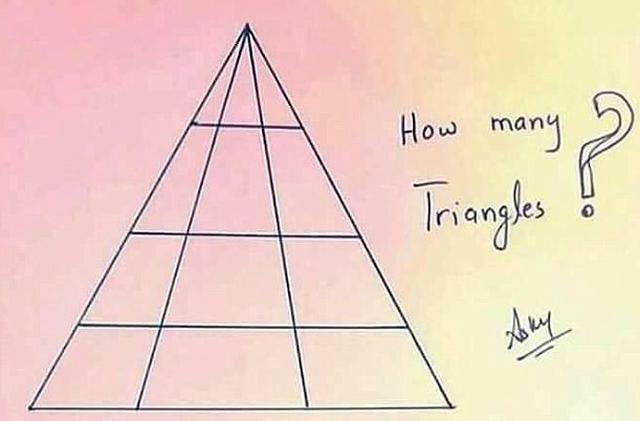 Đố vui... nổ não: Có bao nhiêu hình tam giác trong ảnh? - Ảnh 2.