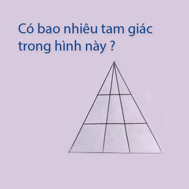 Đố vui... nổ não: Có bao nhiêu hình tam giác trong ảnh? - Ảnh 1.