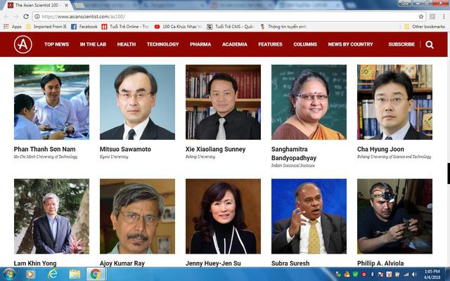 Hai nhà khoa học Việt vào danh sách 100 nhà khoa học hàng đầu châu Á - Ảnh 1.