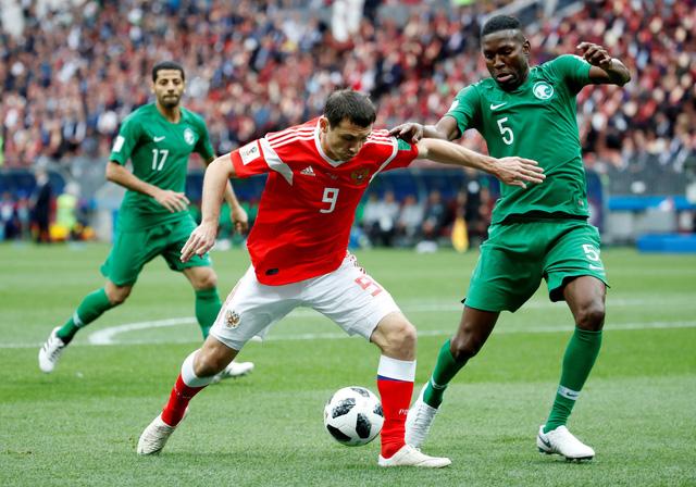Nga đè bẹp Saudi Arabia 5-0 ở trận khai mạc World Cup 2018 - Ảnh 1.