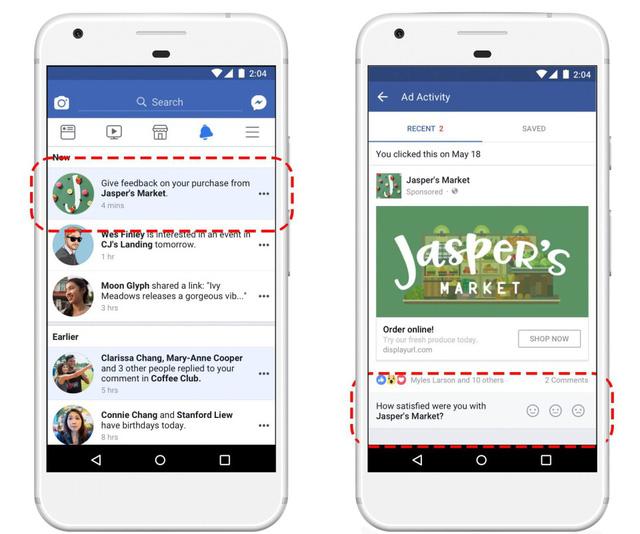 Facebook cho người dùng đánh giá quảng cáo - Ảnh 1.