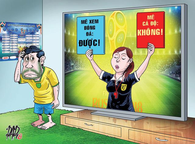 Mê bóng đá quên vợ, vợ yêu chồng sẽ bỏ qua... - Ảnh 1.