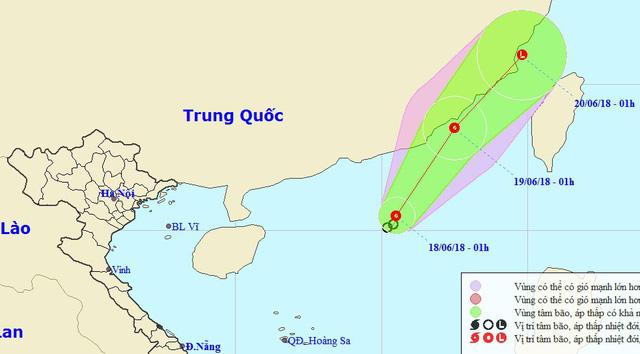 Áp thấp nhiệt đới gây mưa dông trên cả nước - Ảnh 1.