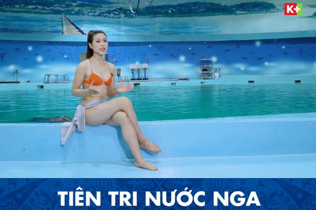 Một kênh truyền hình ở Việt Nam đưa MC mặc bikini dẫn World Cup - Ảnh 3.