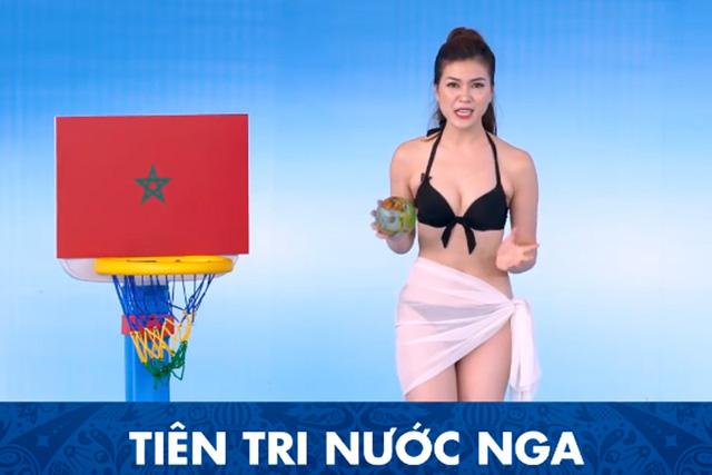 Một kênh truyền hình ở Việt Nam đưa MC mặc bikini dẫn World Cup - Ảnh 2.