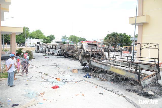 Đã khởi tố 32 bị can trong các vụ gây rối ở Bình Thuận - Ảnh 1.