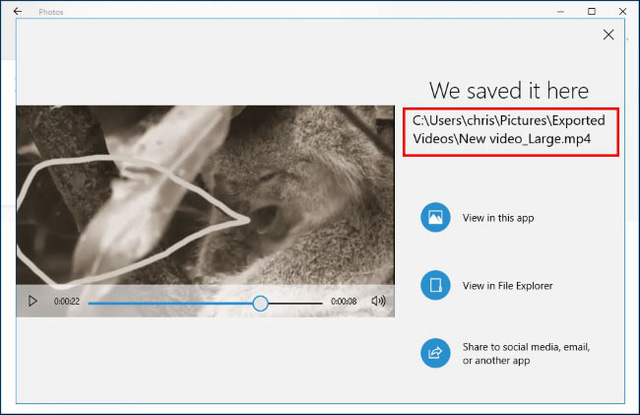 Hướng dẫn sử dụng công cụ chỉnh sửa video ẩn của Windows 10 - Ảnh 25.